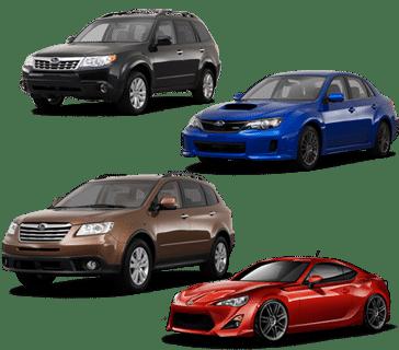 skup samochodów subaru marki modele